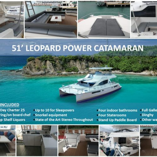 51' Leopard Power Catamaran 1