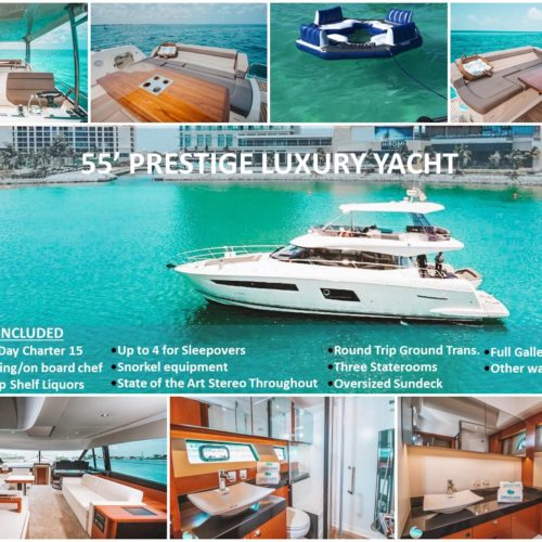 55' Prestige With Flybridge Luxury Yacht 10