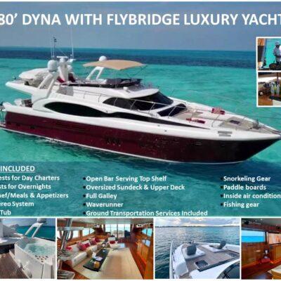 80' Dyna With Flybridge Luxury Yacht