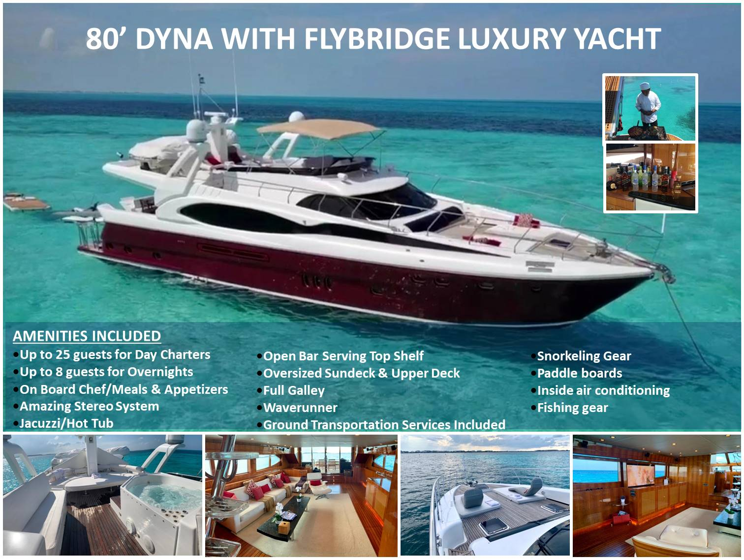 80' DYNA WITH FLYBRIDGHE LUXURY YACHT